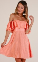 Rhapsody dress in coral
