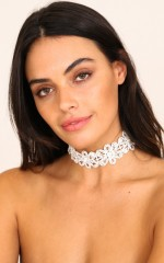 Shed A Light choker in silver