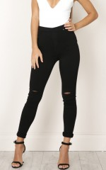 So Far Jeggings in black