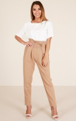 Show Them How pants in camel