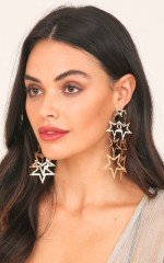 Star Struck earrings in gold