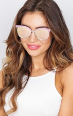 Quay - StarDust sunglasses in pink