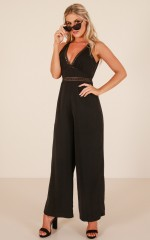 Truth Or Dare jumpsuit in black