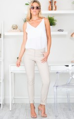 Best Foot Forward Pants in Beige