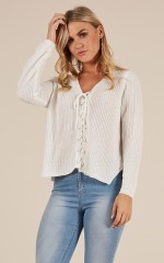 Bottom Line knit sweater in white