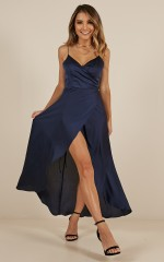 The Countess dress in midnight blue