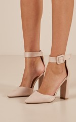 Billini - Gracie Heels in blush micro