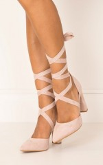 Billini - Ellery in blush suede