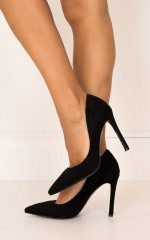 Billini - Faye Heels in black micro