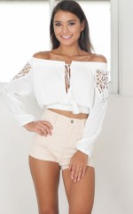 Nearly There Crop Top in white