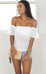 Days Like This top in white