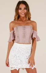 Naive Heart top in dusty rose