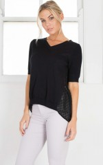 First Preference Top in black