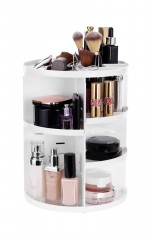 Rotating Makeup Wardrobe in white