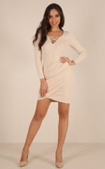 Strike A Pose dress in beige