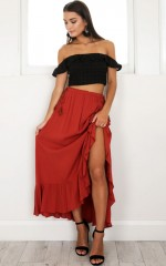 Move Along Skirt in rust