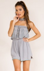 To Be Loved playsuit in Grey