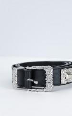 Turn Of Time belt in black
