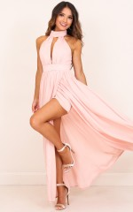 Twilight Star maxi dress in blush