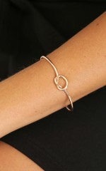 Twisted Knots bracelet in gold