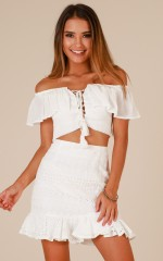 Typical You skirt in white