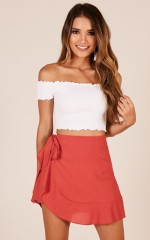 Until The End skort in red
