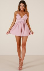 Make it count playsuit in dusty pink