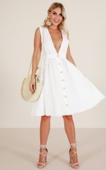 Island Vacay dress in white