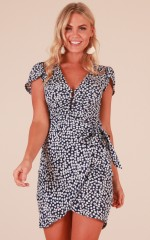 Finders Keepers dress in navy floral