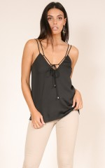 Unwritten Dream top in black