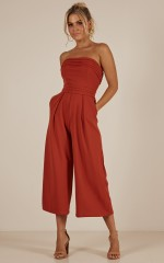 Up Ahead jumpsuit in rust