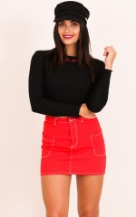 Upgrade You skirt in red