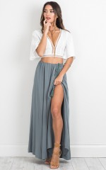 Under The Twilight maxi skirt in teal