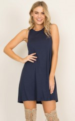 No Mistakes dress in navy
