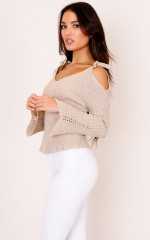 Charming Girl knit top in beige