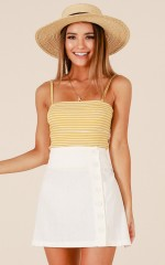 Venture Onwards skirt in white linen look