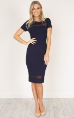 Jessie dress in navy