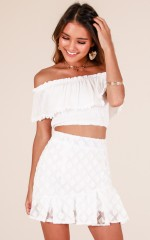 Walk My Way skirt in white