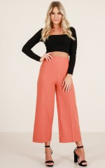Walk With Me culottes in rust