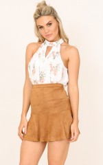 Wanna Be Mine top in cream floral