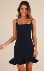 Way Out dress in navy