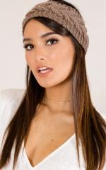 What I Feel knit headband in camel