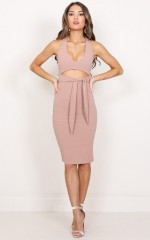Whats My Name dress in mocha