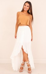 Where I Belong skirt in white