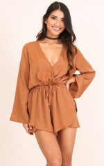 Where We Go playsuit in rust