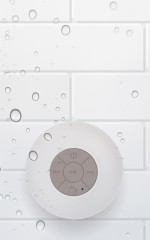 Wireless Shower Speaker in white