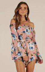 WIsh Master playsuit in dusty pink floral