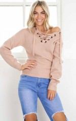 Without you knit jumper in beige