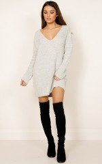 Wannabe knit dress in oatmeal