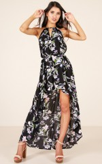 Your Kinda Girl dress in black floral